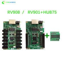LINSN – carte de réception RV901 avec système de contrôle, avec hub75 RV908 EMC CE passé, pour mur vidéo, location d'écran led P2 P3 P4