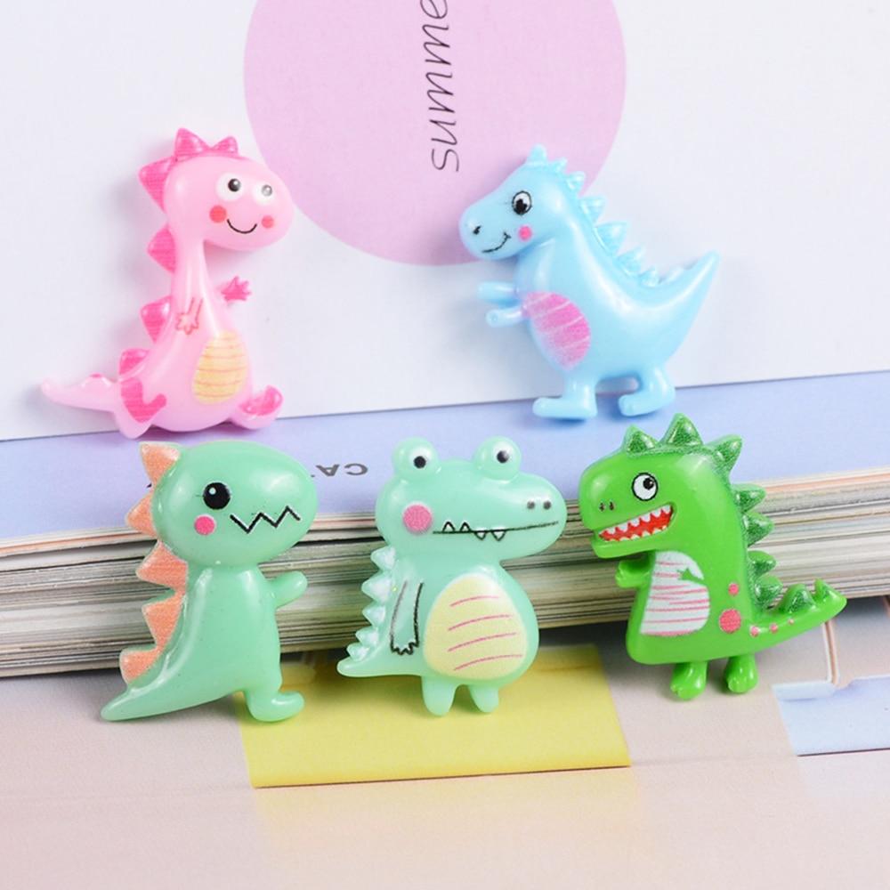 5 Pcs Resin Cute Cartoon Dinosaur Slime Clay Charm Filling Accessories Kids Toy Hair Accessories Handmade DIY Accessories