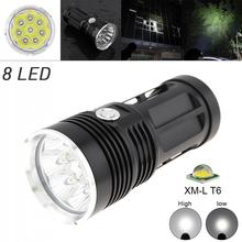 Outdoor LED Flashlight Waterproof 3 Mode 2400LM 8x XML T6 LED Flashlight Torch Lamp White Light Color for Hunting Camping Hiking sitemap 19 xml