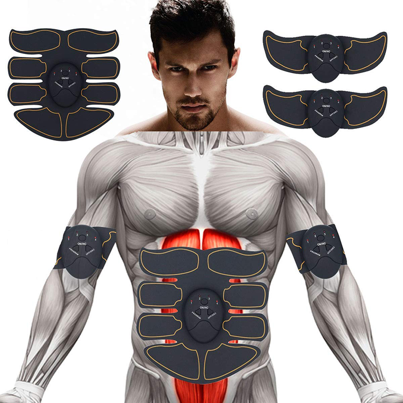 EMS Trainer Muscle Stimulator Hip Trainer Smart Abdominal Training Body Slimming Massager Weight Loss Exerciser Abdomen Leg Arm