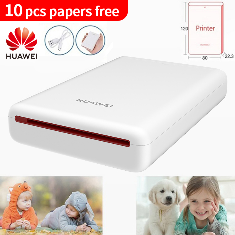 Original Huawei AR Portable Photo Printer Mini DIY Photo Printers For Phone Smart Bluetooth 4.1 300dpi HD Picture Pocket CV80