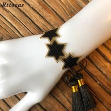 цена Rttooas Fashion Star Women Bracelet Bohemia Tassel Fashion MIYUKI Bead Bracelet Jewelry Delica Pulseras Mujer Moda Dropshipping в интернет-магазинах