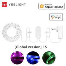 Yeelight RGB lightstrip 1S inteligentne światło zespół inteligentny dom aplikacja na telefon wifi kolorowe lamb LED 2M do 10M 16 milionów 60 Led tanie tanio CN (pochodzenie) yeelight lightstrip Ready-to-go Miga yeelight light strip 2 kanały yeelight strip Remote Control