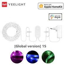 Yeelight tira de luces RGB 1S, banda de luz inteligente para casa, teléfono inteligente, aplicación wifi, cordero de colores, LED de 2M a 10M, 16 millones de 60 Led