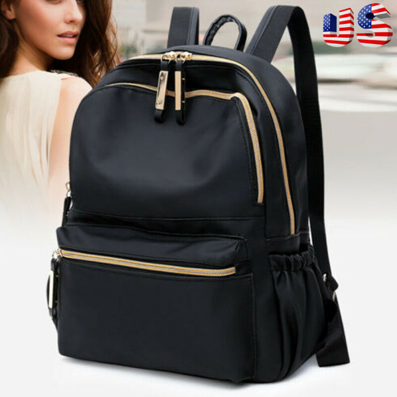 New Arrival Fashion Women Ladies Shoulder Bag Rucksack Oxford Leather  Cloth Solid Color Backpack Pack School Bag Travel Bag