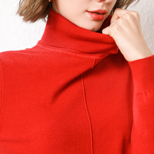 2019 New Woolen Sweater Female turtle neck Korean Loose Lazy Wind Knitted Backing Shirt Joker Long Sleeve Jacket Womens Winter