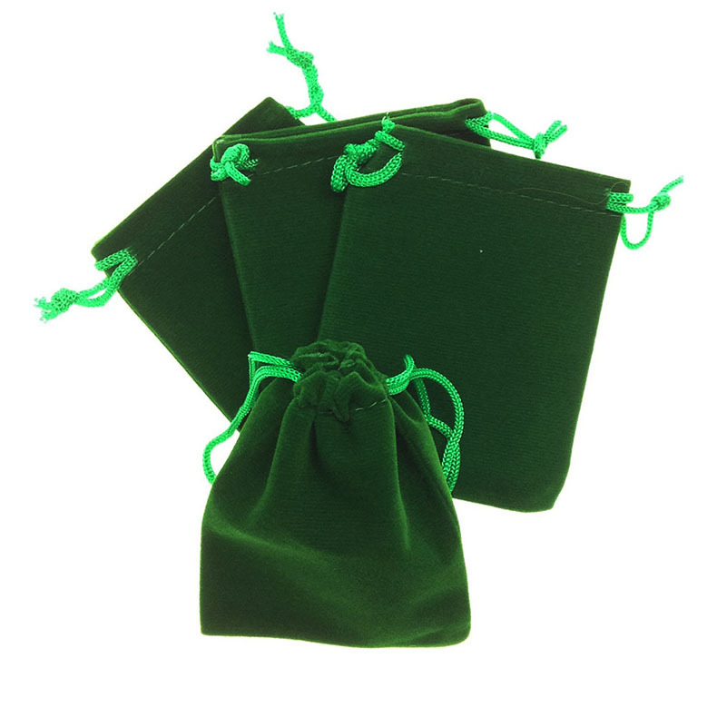 50Pcs/lot 7x9cm 11 Colors Dark Green Velvet Drawstring Pouches Wedding Christmas Gift Bags Jewelry Packaging Bag Pouch