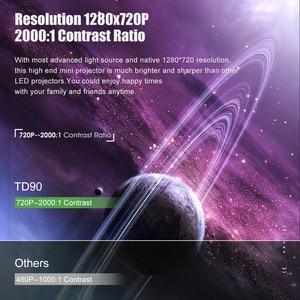 Image 2 - ThundeaL HD Mini projektör TD90 yerli 1280x720P LED Android WiFi projektör Video ev sineması 3D HDMI film oyun Proyector