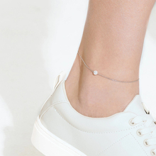 JUJIE 316L Stainless Steel Pearl Anklet For Women 2020 Foot Chain Bracelet Anklets Jewelry Dropshipping/Wholesale