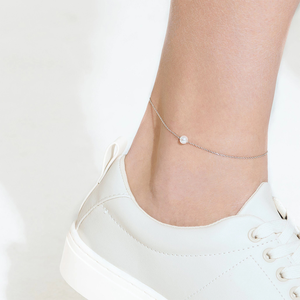 JUJIE Stainless Steel Anklet Bracelet For Women 2020 Pearl Bracelet Women Foot Ankle Chain Leg Jewelry Dropshipping/Wholesale