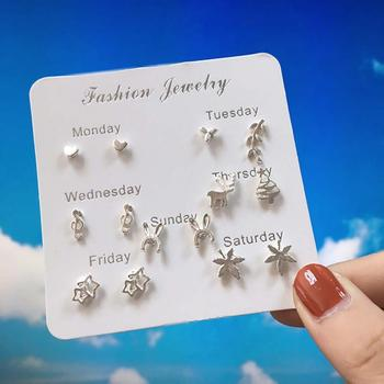Ear Stud Earring Week Theme Fashion Jewelry Cute Alloy Star Earring for Party image