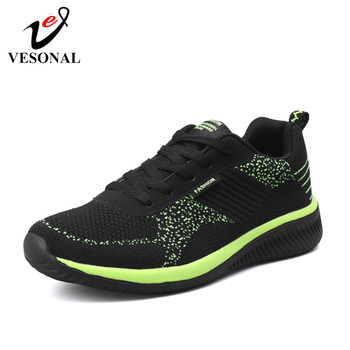 VESONAL Brand 2019 New Breathable Comfortable Mesh Men Shoes Casual Lightweight Walking Male Sneakers Tenis Feminino Footwear