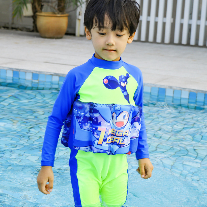 2019 CHILDREN'S Buoyancy Swimsuit Baby BOY'S Boy BABY'S Bathing Suit One-piece Long Sleeve Floating Bathing Suit