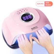 SUN M3 Pro secador de uñas de 180W, lámpara UV LED de dos manos para curado de esmalte de Gel, con pantalla LCD y 45 LED, autodetección