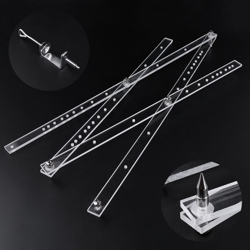 50cm Scale Folding Ruler Pantograph Copy Rluer Drawing Enlarger Reducer Tool 831F