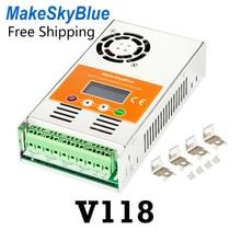MakeSkyBlue MPPT 30A 40A 60A الشمسية جهاز التحكم في الشحن السيارات ل 12 V 24 V 36 V 48 V حمض الرصاص حمض ليثيوم بطارية LCD الاتحاد الأوروبي V118