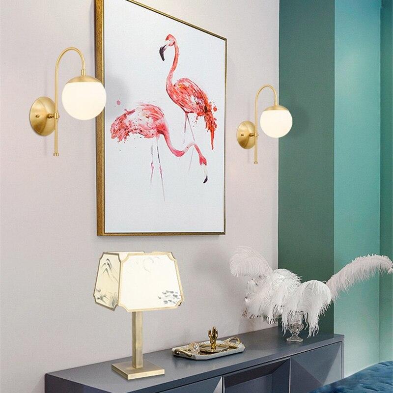 Купить e27 европейский стиль крытый светодиодный стеклянный настенный