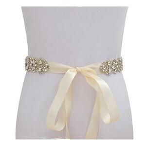 Image 2 - MissRDress, Свадебный ремень, ремень ручной работы из искусственного жемчуга, женское вечернее платье, Свадебный ремень с жемчугом JK834