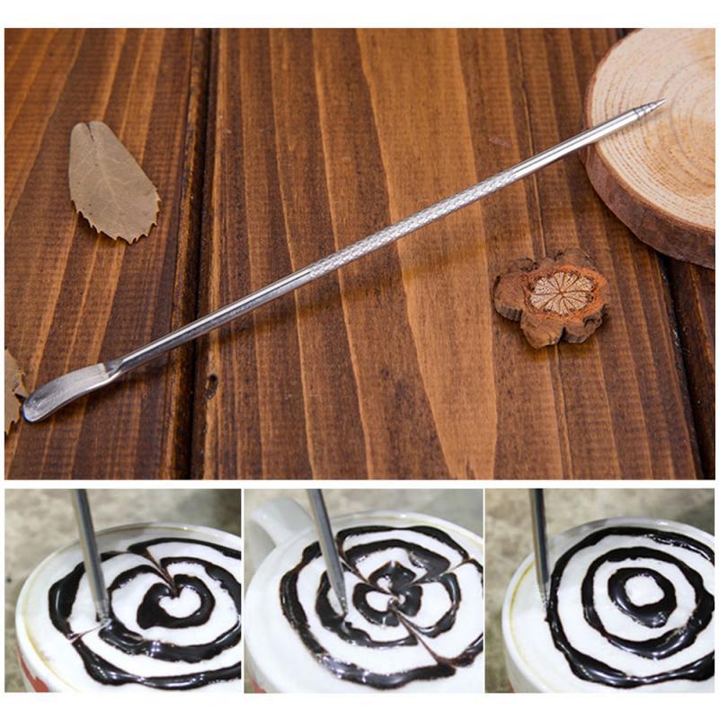 1pcs Barista Cappuccino Espresso Coffee Decorating Latte Art Pen Tamper Needle Creative High Quality Fancy Coffee Mixer Tool|Coffee Art Needles| |  - title=