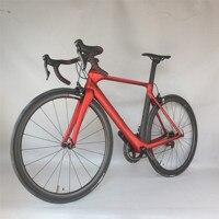 سيراف طلاء مخصص 47.5/50.5/53.5 سنتيمتر BSA ايرو الكربون الطريق دراجة كاملة FM268 مع مجموعة SHIMAN00 R8000