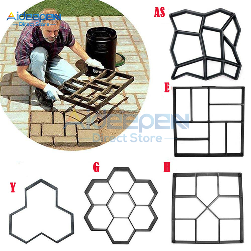1Pcs DIY Manually Paving Cement Brick Concrete Molds Garden Plastic Stone Road Mold Garden Decoration For Garden Paving Tools