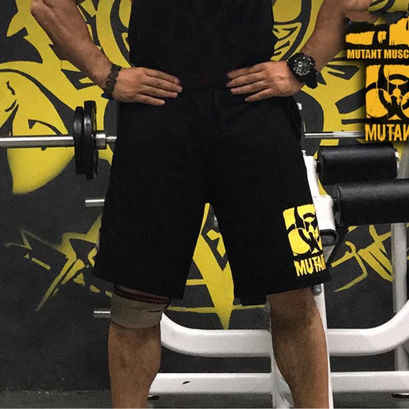 YEMEKE Mens Shorts Summer Black Casual Fitness Gyms Bodybuilding Jogger Training Clothing Quick-drying Compression Shorts Men