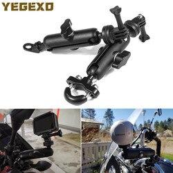 Motorcycle Camera Holder Handle Mirror Mount Bracket For HONDA VARADERO 125 DEAUVILLE CBR600F4I VTR 250 FORZA 300 SH 125I CBR F4