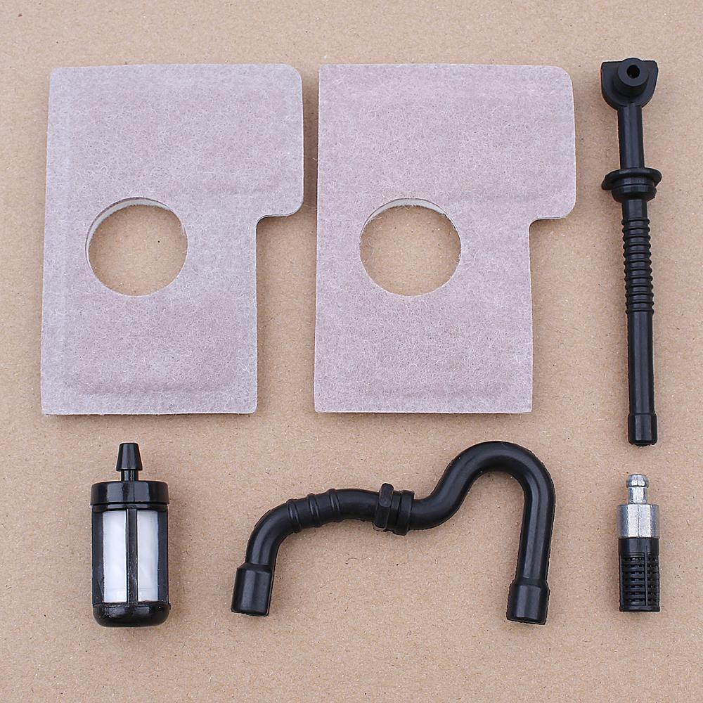 Air Filter Cleaner Foam Fuel Oil Filter Line Hose Kit For Stihl MS170 MS180 017 018 MS 170 180 Chainsaw Spare Parts