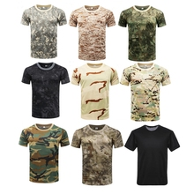 T-Shirt Military Combat Tactical Outdoor Men Airsoft Tee Short-Sleeve Fitness Hiking