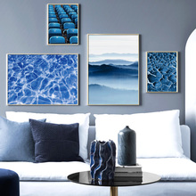 Chair Sea Surface Mountains Wall Art Canvas Painting Landscape Nordic Posters And Prints Pictures For Living Room Bed