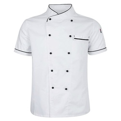 Chef Werkkleding Uniform Chef Korte Mouwen Double Breasted Jas Restaurant Hotel Kok Kleding Uniform