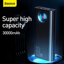 Baseus 30000 Mah Power Bank Pd Sub 3.0 Snel Opladen Draagbare Oplader 33W Powerbank Travel Externe Batterij Voor telefoon Laptop