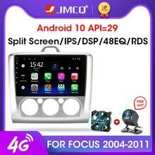 "JMCQ 9 ""2 الدين 4G + WiFi راديو السيارة لفورد فوكس Exi MT AT 2004 2011 مشغل وسائط متعددة أندرويد 8.1 لتحديد المواقع والملاحة رئيس وحدة 2din"