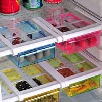 Slide Kitchen Fridge Freezer Space Saver Organizer Drawer Refrigerator Storage Box Rack Slide Under Shelf Rack Organizer Holder
