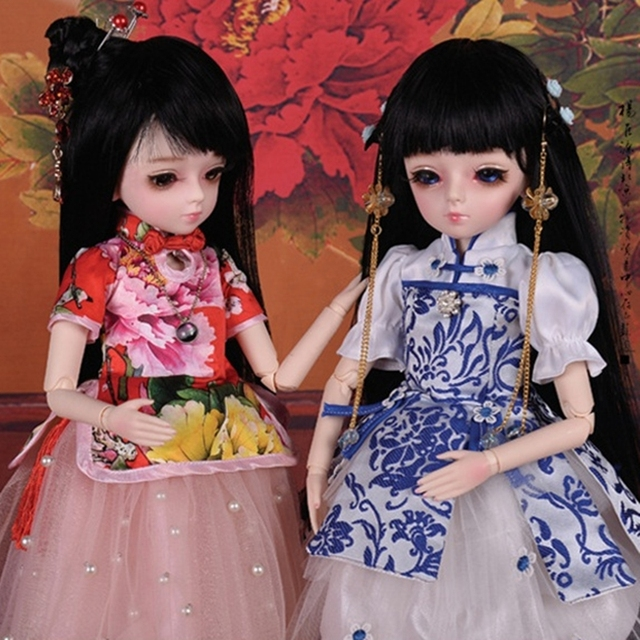 18 Movable Joints BJD Doll 1/4 With Full Outfits Wigs Shoes official Makeup Ball Jointed Dolls collection kids toys Christmas gi 3