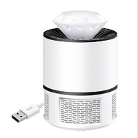USB LED Insect Trap Physical Mosquito Killer Lamp Night Light Bug Home Living Room Pest Controling White US Plug