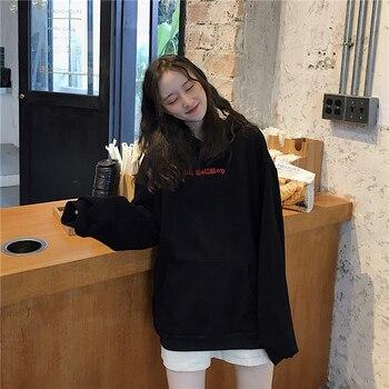 Devil Horn Hoodie Streetwear Devil Hoodie Gothic Hooded Hoody Women Loose Black Hooded Pollovers Sweatshirts Oversized Harajuku 6