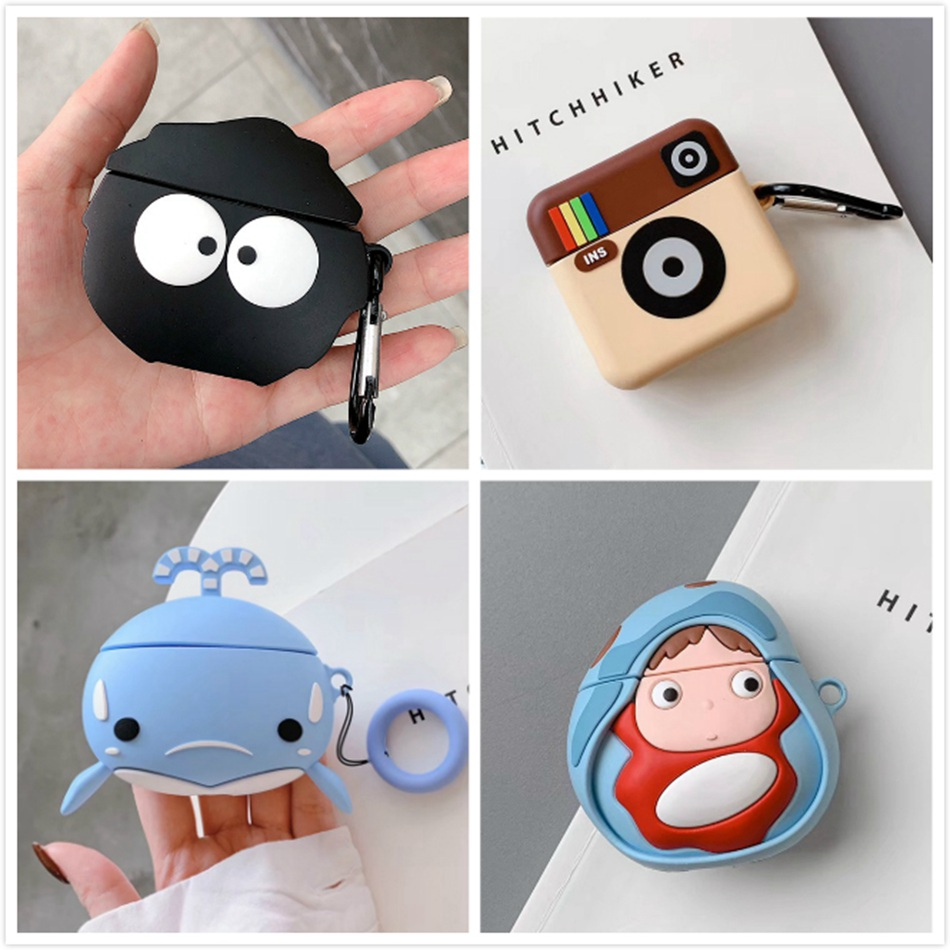 3D Earphone Case For Airpods Pro Case Silicone Stitch Cat Cartoon Headphone/Earpods Cover For Apple Air Pods Pro 3 Case Keychain
