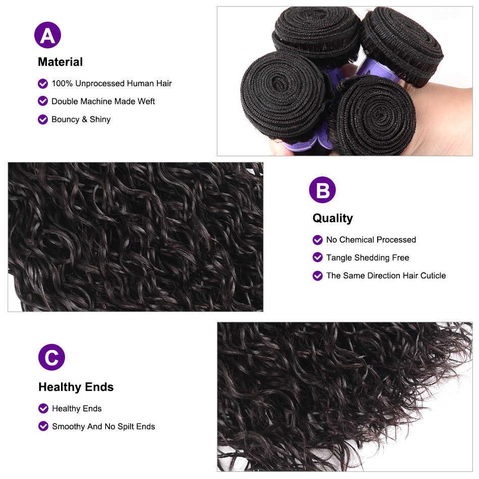 UNice saç Kysiss serisi malezya su dalga 8-26 inç insan saçı postiş işlenmemiş bakire saç demetleri 1 adet