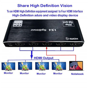 Image 4 - HDMI dağıtıcı 1 4 Out HDMI 1x4 Port 4K @ 60hz HDMI 2.0b tam Ultra HD 1080P, 3D, HDCP2.2 18Gbps, HDR, EDID Xbox