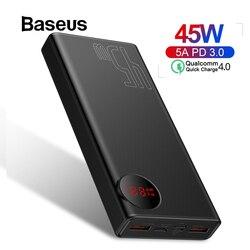 Baseus 20000 mah banco de potência usb pd carregamento rápido powerbank para iphone 11 pro max xiaomi carga rápida 4.0 3.0 bateria externa