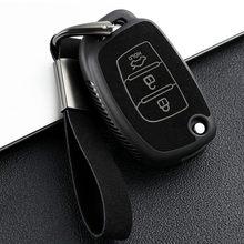Leather TPU 3 Buttons Flip Key Cover Remote Case Shell For Hyundai Sonata Tucson Elantra Auto Accessories