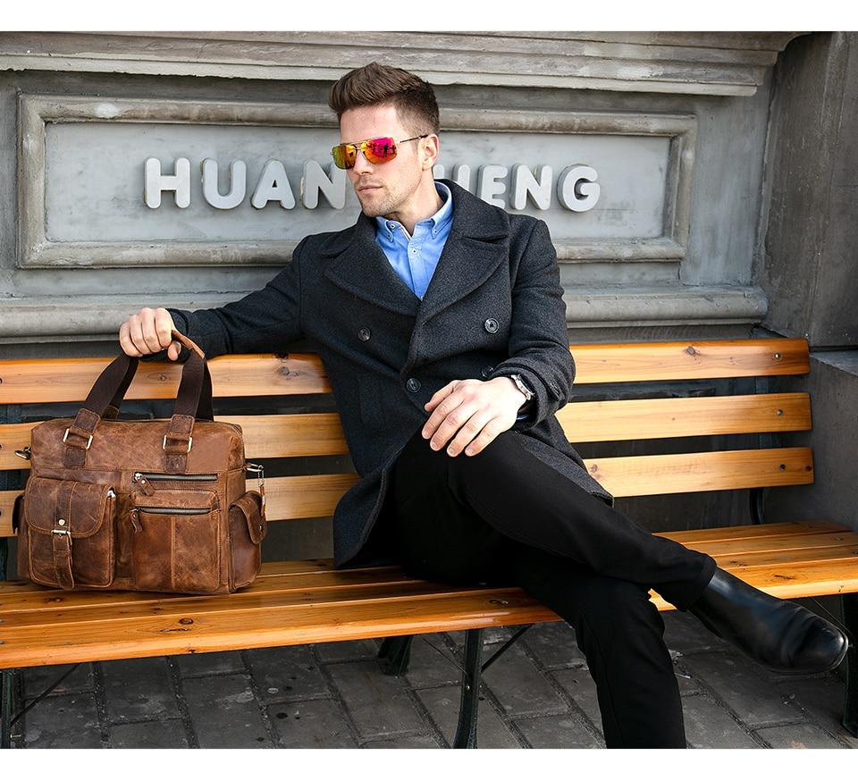 H1a715f1883684480b258f404cb619eba1 MVA Genuine Leather Men's Briefcase Messenger Bag Men's Leather Laptop Bag For men Office Bags For Men Briefcase Handbags 8537
