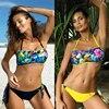 Plus Size Sexy Bikini Set 2020 Mujer New Micro Bikini Swimwear Women Tube Top Print Swimsuit Beachwear Swimming For Suit Biquini