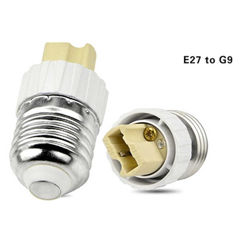 B22 G9 E27 E14 E40 تركيب ضوء قاعدة بلاستيكية SES جولة ES محول مصباح LED تحويل المسمار مآخذ جديد لمبة لمبة موسع