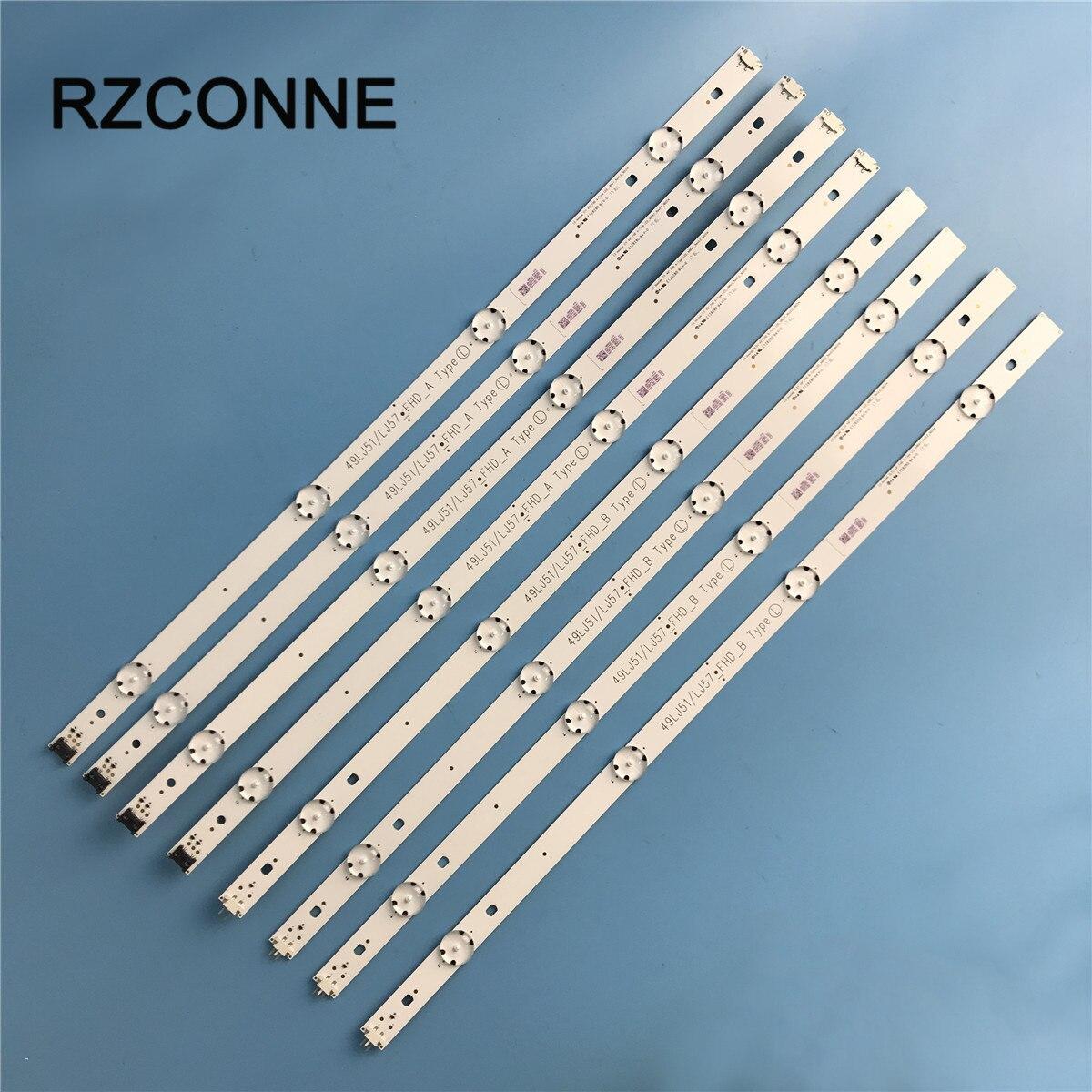 LED Backlight Strip 4+4leds For LG Innotek 17Y 49