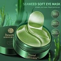 60PC Algen Auge Maske Reparatur Eye Patches Entfernen Augenringe Feuchtigkeits Augen Maske Kristall Kollagen Gel Maske Augen Pflege TSLM1