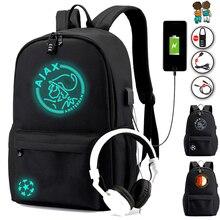 2020 студенческий рюкзак с зарядка через USB Анти кражи Особенности школьная сумка рюкзак для мальчиков и девочек «Снова в школу