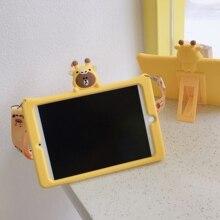 Силиконовая крышка для huawei MediaPad T5 10 дети Безопасный противоударный корпус AGS2-W09 AGS2-L09 AGS2-L03 10,1 ''планшет стенд кожаный чехол+ подставка для ручек