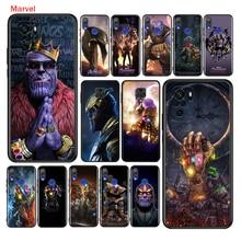 ฝาครอบซิลิโคน Avengers Thanos สำหรับ Xiaomi Redmi หมายเหตุ10 10S 9 9S Pro Max 9T 8T 8 7 6 5 Pro 5A โทรศัพท์กรณี